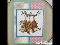 Art Impressions Blog: Possum Shutter Card plus Video by Jil Lebel