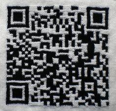 #www.qr-3d.weebly.com #qr #3d #code #knit