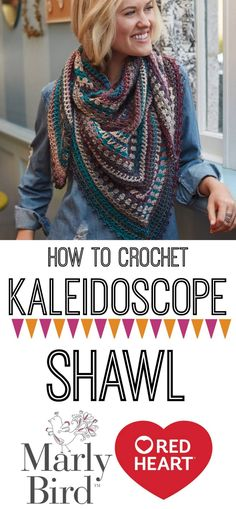 Learn how to crochet this beautiful shawl with a video tutorial by Marly Bird and free pattern from Red Heart!