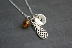 Pineapple Necklace With Sterling Silver Pendant by CelebrateToday, $35.00