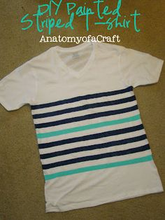 DIY Painted Striped T-shirt