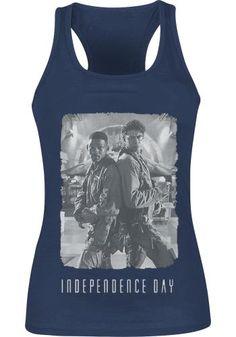 """Top donna blu """"Back 2 Back Cover"""" del film #IndependenceDay."""