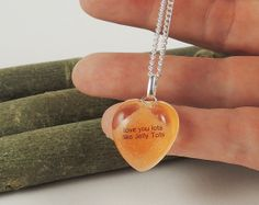 Orange Jelly Tot Necklace Real Sweet with Words by JustKJewellery, £12.00
