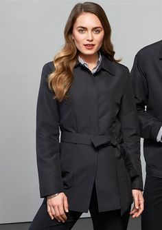 Ladies Studio Trench. Zip front jackets with 2 inside chest pockets and side pockets. Inside zip access for #embroidery.  #winterclothes #jackets #ladiesjackets #jacketsforwomen #embroideryadelaide