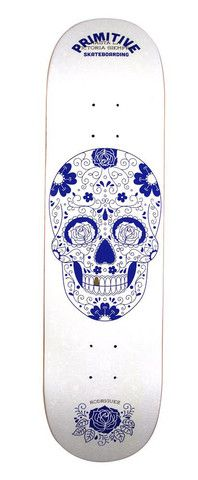 "Paul Rodriguez Victory (White) Deck - 8.1""   Primitive Skateboarding"