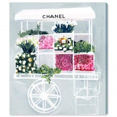 "Oliver Gal ""Fashion Flower Cart"" Canvas Print Wall Art - Available in 6 Sizes from The Well Appointed House"