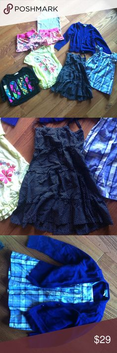 Size 4 bundle shorts, tank, dress, shirts, sweater This is for a bundle with 8 pieces all in size 4T. Brands include- Old Navy, Pinc, Lele for kids, kids korner, circo, and no kidding. All in gently used condition. Matching Sets