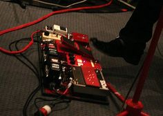 Jack White's main pedalboard with The White Stripes