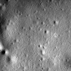 Closeup of Mercury surface with craters