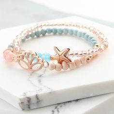 Kleurrijke sieraden met gekleurde kralen, DQ metaal en nieuw nylondraad