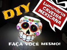 DIY/Luminária Caveira Mexicana/Halloween idea/ Decorando o quarto - diy room decor - YouTube