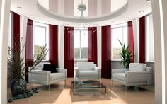 The Best Home Decorating Websites For Home Decoration Idea : Elegant Home  Decorating Living Room Design With Three White Chairs Surrounded B.