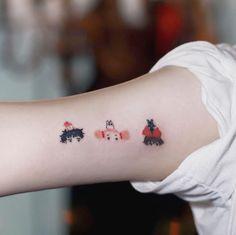 32 Ideas Tattoo Animal Inspiration Studio Ghibli For 2019 Anime Tattoos, Body Art Tattoos, New Tattoos, Cool Tattoos, Tatuaje Studio Ghibli, Studio Ghibli Tattoo, Trendy Tattoos, Small Tattoos, Aesthetic Tattoo