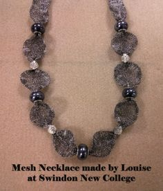 hematite mesh necklace made by rebecca at swindon new college