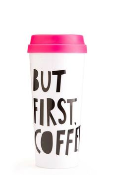 Our thermal mugs will keep your tea or coffee totally warm and cozy while you get to look extra cute. Pretty much a win all around! 3 in. x 8 in. x 3 in. White-infused plastic lid with open and close slider insulated 16 oz. Hot Stuff Thermal-Mug by ban.do. Home & Gifts - Home Decor - Dining Old Greenwich, Connecticut