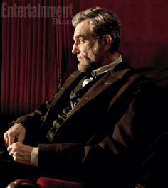 """Daniel Day-Lewis as """"Lincoln"""" Can't wait to see this. He looks very much like Lincoln. I think he's a brilliant actor too."""