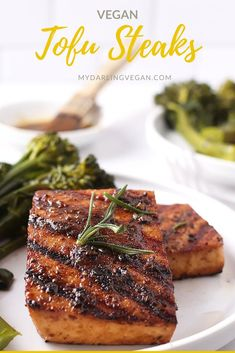 These chewy blackened tofu steaks are the perfect vegan dinner for you and your household! Marinated in delicious flavors, this easy dinner recipe is perfect.