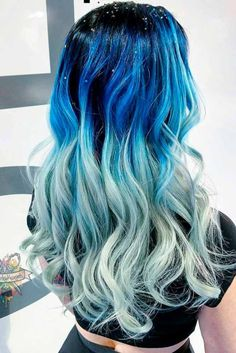 What about blue ombre hair? In case you are thinking about going for a new look, here are ombre hairstyles in blue that are totally hip