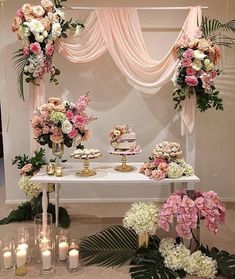 This exquisite sweet table seems ideal for any event. This exquisite table seems ideal for before www. This exquisite sweet table seems ideal for any event. This exquisite . Wedding Table, Diy Wedding, Wedding Events, Wedding Flowers, Dream Wedding, Weddings, Wedding Ideas, Wedding Vintage, Wedding Ceremony