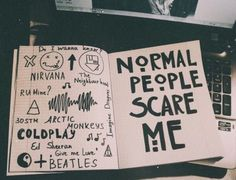 ahs, doodles, grunge, notebook, tumblr
