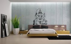 EMILYS ROOM Ganesh Ganesha Elephant Lord of Success Hindu Hand God Buddha India Housewares Wall Vinyl Decal Design Interior Bedroom Decor Sticker SV4147
