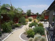 water efficient back yard waterwise
