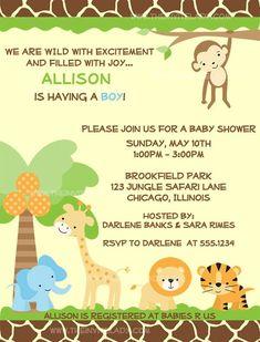 Safari baby shower invitations free template new invitations baby shower invitations printables google search filmwisefo