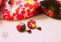 Orecchini in seta, earrings made of silk