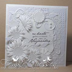 kaartenknutsels van femke: white on white and lots of flowers
