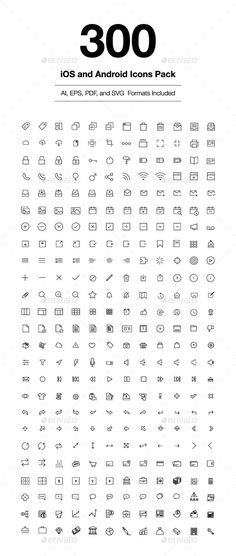 300 iOS and Android Vector Icons   Buy and Download: http://graphicriver.net/item/300-ios-and-android-vector-icons/9013430?WT.ac=category_thumb&WT.z_author=creativestall&ref=ksioks