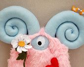 Stewart, The Love Monster - Hand-stitched plush monster