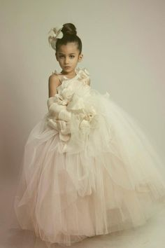 A bit much but I like the concept. flower girl couture from Kriktor Jabotian