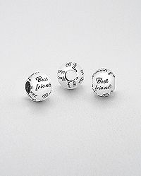 "sterling silver message bead "" Best friends"" Wholesale Silver Jewelry, Wholesale Beads, Cufflinks, Sterling Silver, Friends, Accessories, Shopping, Amigos, Wedding Cufflinks"