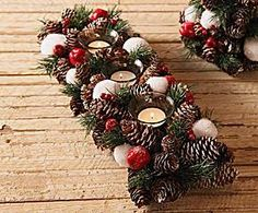 Christmas Tablescapes, Christmas Candles, Christmas Centerpieces, Rustic Christmas, Xmas Decorations, Christmas Holidays, Christmas Wreaths, Christmas Crafts, Christmas Ornaments