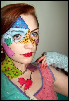 Patchwork Doll makeup @Melissa Banta can you do this for me?!