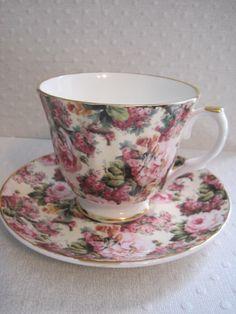TEA CUP AND SAUCER BEAUTIFUL