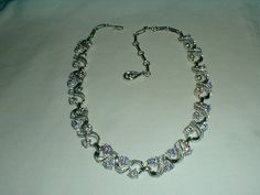 vintage coro silver blue topaz aurora by qualityvintagejewels, $42.00