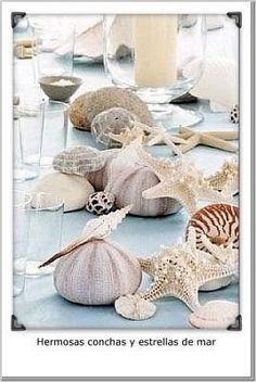Wedding, Reception, Blue, Beach, Aqua, Seashell, Glass - Project Wedding