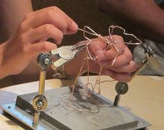 Making wire automata from Maker Education Blog and Tinkering Studio.