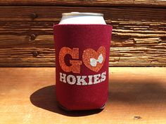 Virginia Tech Hokies Sports Team College NBA NFC South Football Basketball Soccer Baseball Hockey Can Coozie Koozie !!!! I want to DYI Something like this!