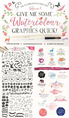 Watercolour Quick! Get this as part of the Ultimate Designer's Bundle (this and so much more) for just $29!