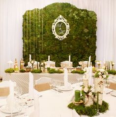 Moss Wedding Decor