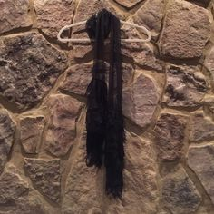 Black poet scarf Black poet scarf with lace detailing Accessories Scarves & Wraps