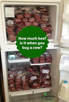 Buying half a cow – Clover Valley Beef Eine halbe Kuh kaufen – Clover Valley Beef Buy A Cow, Side Of Beef, Meat Butcher, Beef Marinade, Meat Markets, Beef Recipes, Beef Meals, Freezer Meals, Recipies
