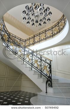 want this style of staircase but maybe a different railing