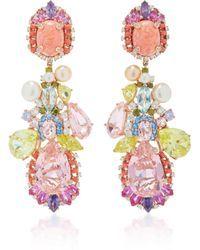 Opal Nereides Earrings by Anabela Chan Opal Earrings, Opal Jewelry, Crystal Jewelry, Fine Jewelry, Jewellery Earrings, Jewlery, Pink Opal, Pink Sapphire, Jewelry Design Drawing