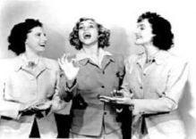"andrews_sisters . Their popularity was so great that after the war the German troops made bootlegs.After the war, they toured the US and Europe. When Patti decided to go solo in 1953, the group fell apart. In 1962 they performed together for the last time on The Dean Martin Show. Laverne, who had cancer, died soon after at age 55. The two remaining sisters have a cover of ""Boogie Woogie Bugle Boy"" recorded with Bette Midler."
