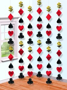 Casino String Decorations 6ct | Wally's Party Factory #casino #decor