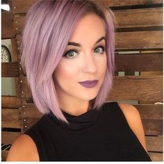 A Purple Lilac Hair Color Formula ❤ liked on Polyvore featuring hair and hairstyle