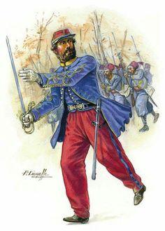 SOLDIERS- Courcelle: Officier des tirailleurs algériens 1870, by Patrice Courcelle.